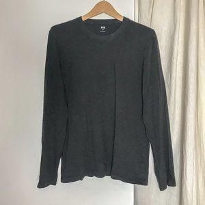 UNIQLO black long sleeve mens t-shirt basic size M